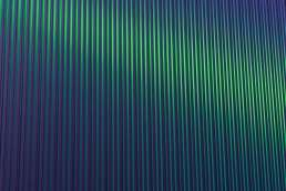 Striped green wall