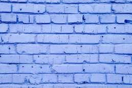 Purple painted brick
