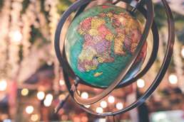 Colorful globe of the world