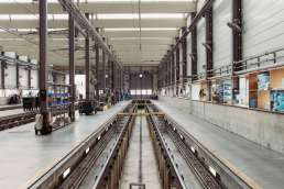 Empty factory assembly line