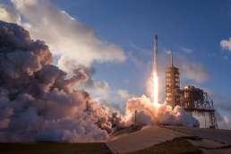 Rocket ship launching