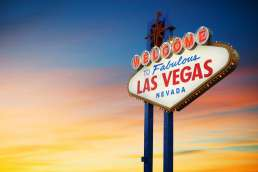 Welcome to Fabulous Las Vegas Nevada sign against sunset