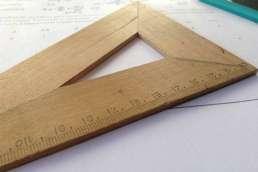 Ruler on math homework