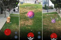 Pokemon-Go game being played