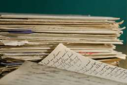Stack of hand written letters