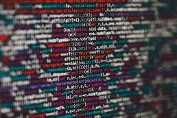 Close-up screen of code