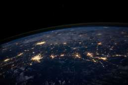Photo of Earth at night from outer space