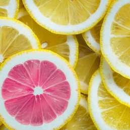 Lemons and one pink lemon