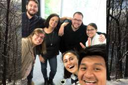 Work Team Selfie