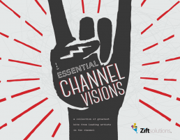 Rock and roll fist graphic with red fireworks and text Essential Channel Visions